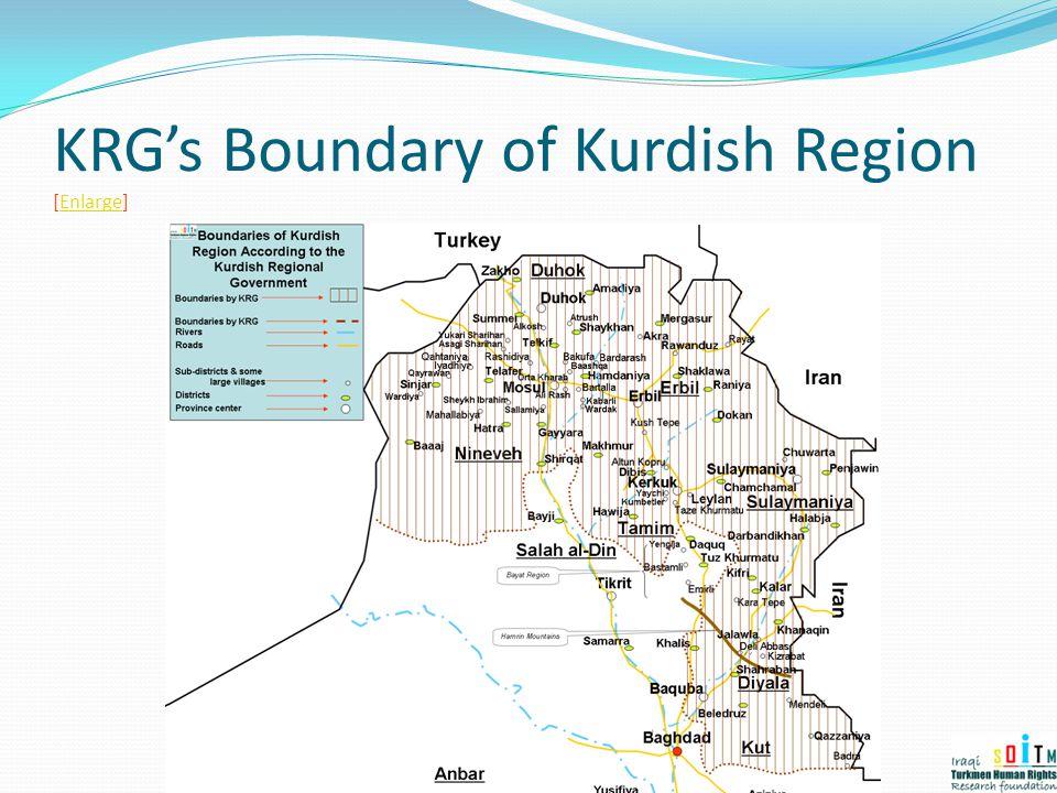 KRG's Boundary of Kurdish Region [Enlarge]